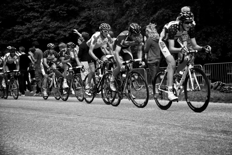 Cyclists on the return leg of the London Surrey Cycle race