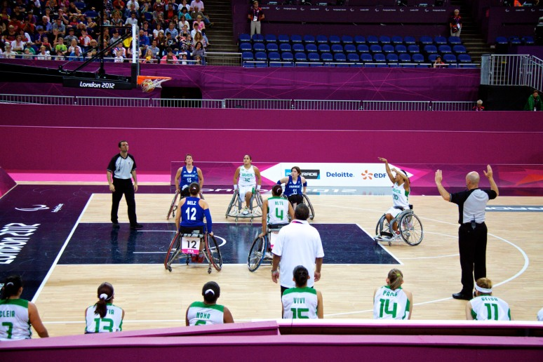 Brazil v France in the women's wheelchair basketball at the Paralympics, London 2012