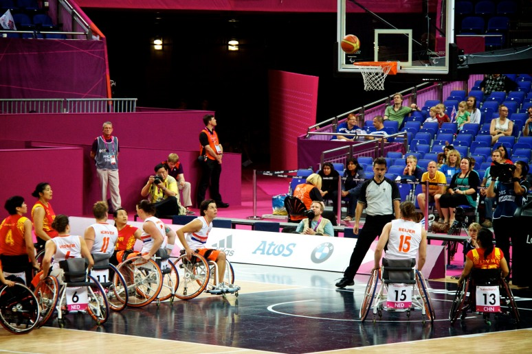 China vs Netherlands in the quarter finals of the women's wheelchair basketball competition