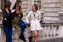 Off-duty models at London Fashion Week 2012 at Somerset House