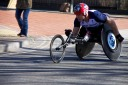 Wheelchair racer, David Weir, at the London Marthon 2013