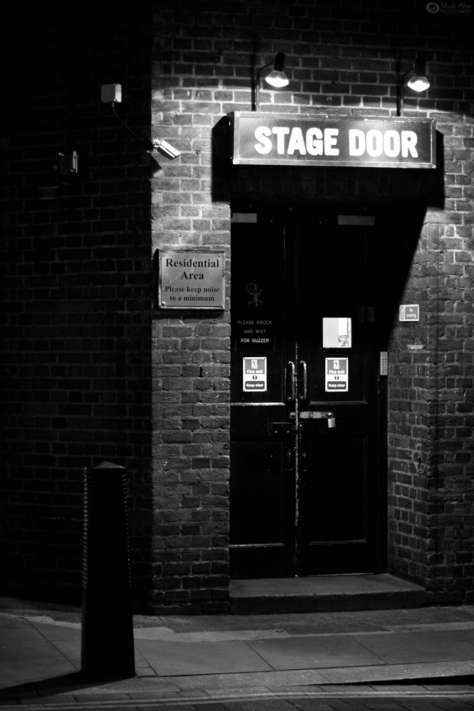 Stage door of the Cambridge Theatre, London