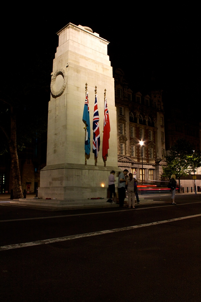 The Cenotaph lit up