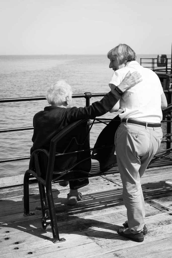 An elderly couple on Southend Pier