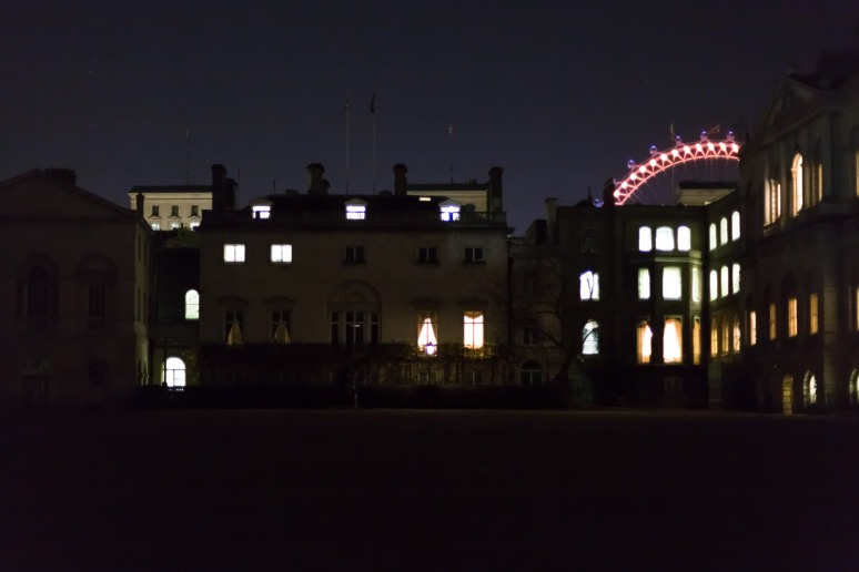 Horseguards Parade, at night, London